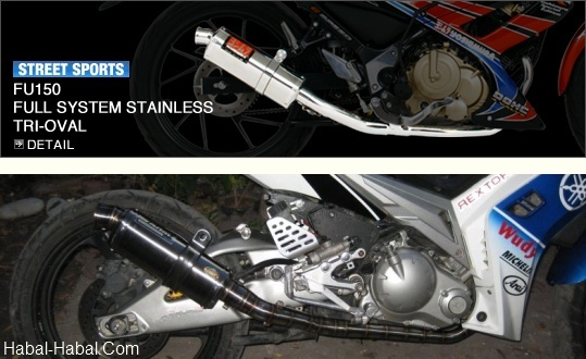 Aftermarket Exhaust System for Motorcycle