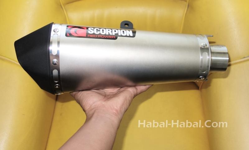 Scorpion Serktet Taper Exhaust can