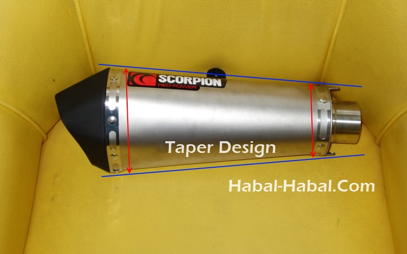 taper shape exhaust